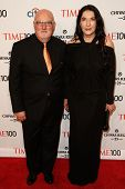 NEW YORK-APR 29: Artist Marina Abramovic (R) and Sean Kelly attend the Time 100 Gala for the Most In