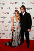 NEW YORK-APR 29: Singer Carrie Underwood and Mike Fisher attend the Time 100 Gala for the Most Influ