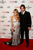 NEW YORK-APR 29: Singer Carrie Underwood (L) and Mike Fisher attend the Time 100 Gala for the Most I