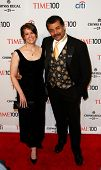 NEW YORK-APR 29: Alice Young (L) and astrophysicist Neil deGrasse Tyson attend the Time 100 Gala for