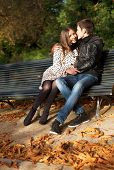 Romantic Couple At Fall, Dating