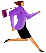 business woman running