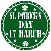 St. Patrick's Day-label