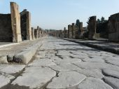 Main street at the ancient Roman city of Pompeii