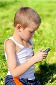 Boy With Mobile Phone