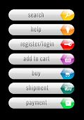 Internet Buttons With Glossy Effect - Illustration