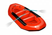 vector icon rubber boat