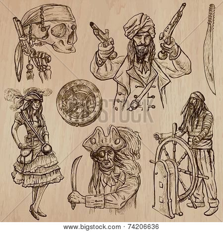 Pirates no5 An Hand Drawn