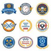Racing emblems colored