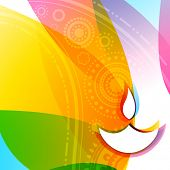 Vector colorful illustration of diwali background