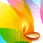Vector illustration of diwali with colorful background