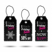 picture of friday  - Black Friday vector sales tags or special offers and black friday - JPG
