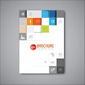 Modern Vector abstract brochure / book / flyer design template