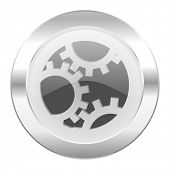 gear chrome web icon isolated