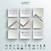 Abstract Infographic Background Line Chart Made With White Stickers