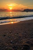 Sunset on a Turkish beach
