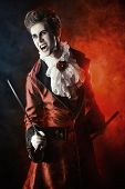 picture of dracula  - Handsome bloodthirsty vampire - JPG