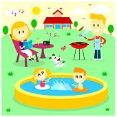 picture of tub  - Family Fun Time at The Backyard House  - JPG