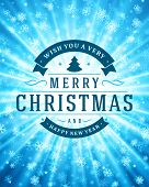 Christmas light and snowflakes vector background. Greeting card design or invitation and holidays wishes.