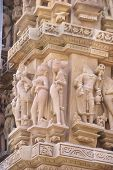 pic of kandariya mahadeva temple  - Apsara naked ladies sculpture on Kandariya Mahadeva Temple at Khajuraho in India Asia - JPG