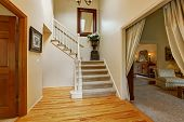 picture of staircases  - Luxury house interior with high ceiling and hardwood floor - JPG