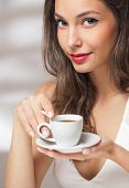 Coffee Loving Brunette.