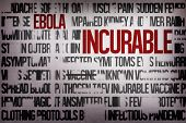 Digitally generated ebola word cluster with bold text