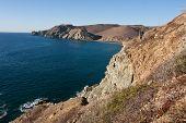 Rocky vista along Mexican Baja Beach
