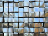 Abstract pattern of  square metal pieces illustration