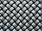 Abstract pattern of metal weaving pieces illustration