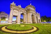 Madrid, Spain at Puerta de Alcala gate.