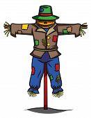 picture of scarecrow  - scarecrow Editable  - JPG