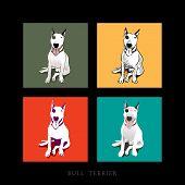 Bull Terrier Dog Illustration