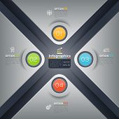 Modern Business X Shape Infographics Graphic Design Layout