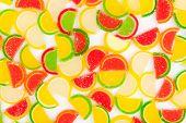 fruit jellies, oranges, lemons, limes