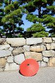 Japanese traditiona red umbrella