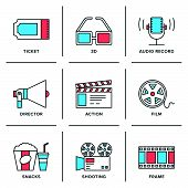 Business And Finance Routine Line Icons Set