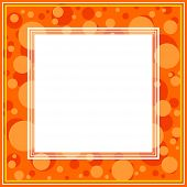 Orange Abstract Border