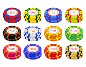 image of ten thousand dollars cash  - American casino chip vectors - JPG