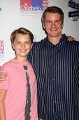 .LOS ANGELES - OCT 19:  Jacob Hopkins, Gerald Hopkins at the First Annual Stars Strike Out Child Abuse event to benefit Childhelp at Pinz Bowling Center on October 19, 2014 in Studio City, CA