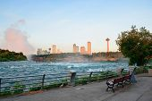 Niagara Falls in the morning with park view