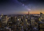 Milky Way Over Manhattan