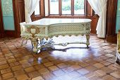 Grand Piano In Blue Room Of Vorontsov Palace