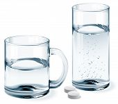 Постер, плакат: Mug and glass of water