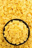 corn flakes in bowl as background texture