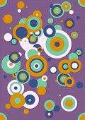 Illustration of different size circles in purple, light pink, mint, orange and marigold.