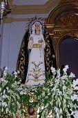Statue of Mary, Frigiliana.