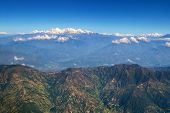 Landscape In Himalaya Mountains From The Plane, Nepal