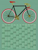 foto of bicycle gear  - 2015 calendar with fixed gear bicycle  - JPG