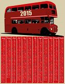 2015 calendar with london red bus